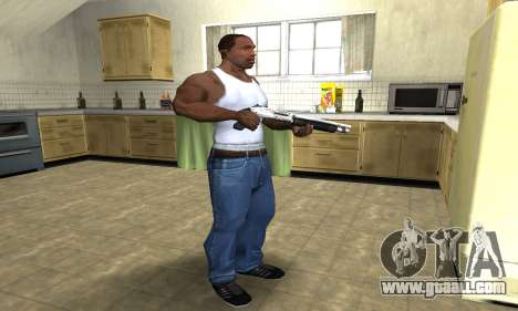 Silver Shotgun for GTA San Andreas third screenshot