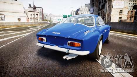 Renault Alpine A110 1973 for GTA 4 back left view