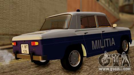 Dacia 1100 Militia for GTA San Andreas back left view