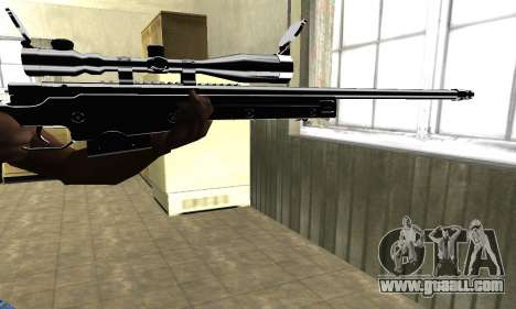 Full Black Sniper Rifle for GTA San Andreas second screenshot