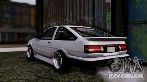Toyota AE86HB for GTA San Andreas left view