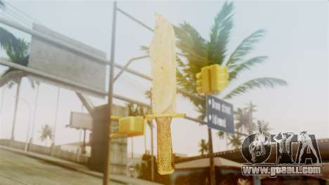 Red Dead Redemption Knife Sergio for GTA San Andreas second screenshot