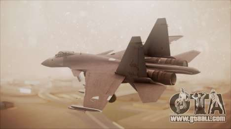 SU-35 Flanker-E Ofnir Ace Combat 5 for GTA San Andreas left view