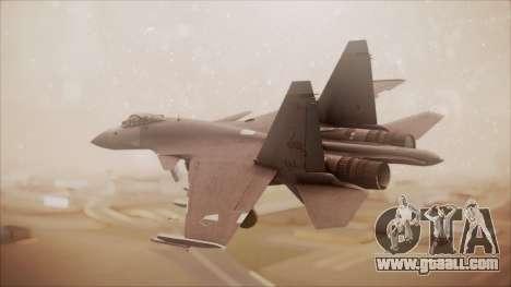SU-35 Flanker-E Ofnir Ace Combat 5 for GTA San Andreas left view