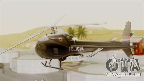Helicopter National Police of Paraguay for GTA San Andreas left view