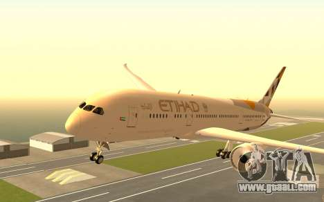 Boeing 787-9 Etihad Airways for GTA San Andreas