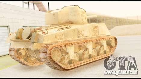 M4 Sherman 75mm Gun Desert for GTA San Andreas left view