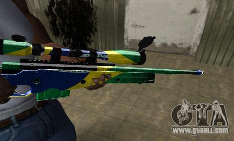 Three Colors Sniper Rifle for GTA San Andreas second screenshot