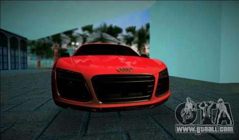 Audi R8 V10 Plus 2014 for GTA Vice City left view