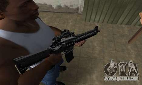 Full Black M4 for GTA San Andreas
