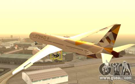 Boeing 787-9 Etihad Airways for GTA San Andreas left view