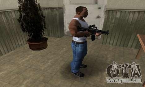 Full Black M4 for GTA San Andreas third screenshot