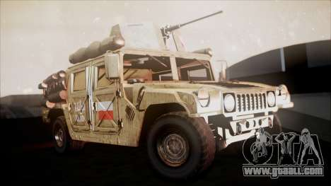 Polish HMMWV for GTA San Andreas right view