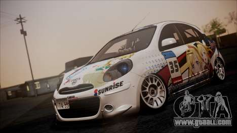 Nissan Micra 2011 Stance Itasha for GTA San Andreas