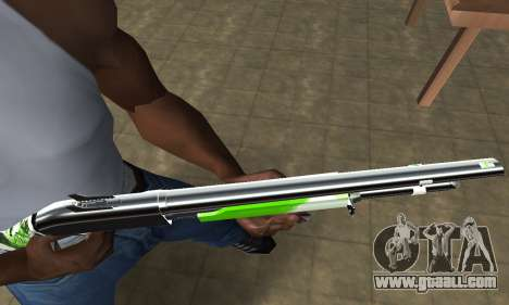 Green Lines Shotgun for GTA San Andreas second screenshot