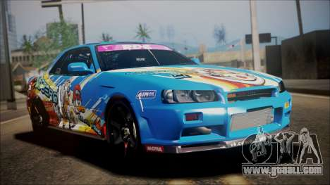 Nissan Skyline ER34 Duck Attack Team for GTA San Andreas