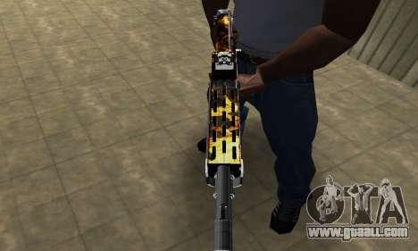 Brighty Yellow Combat Shotgun for GTA San Andreas