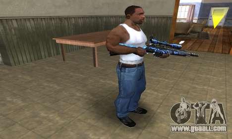 Blue Limers Sniper Rifle for GTA San Andreas third screenshot
