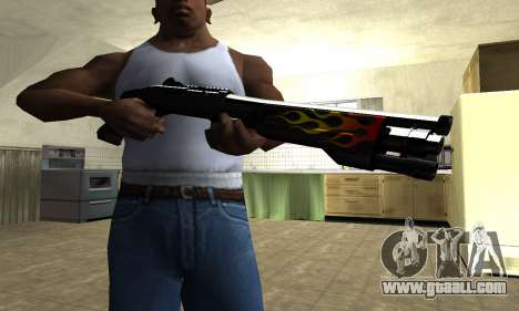 Flame Shotgun for GTA San Andreas