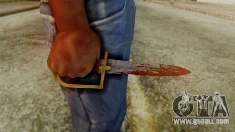 GTA 5 Antique Cavalry Dagger v2 for GTA San Andreas third screenshot
