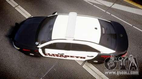 Ford Taurus 2010 Elizabeth Police [ELS] for GTA 4 right view