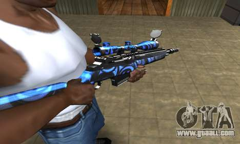 Blue Limers Sniper Rifle for GTA San Andreas