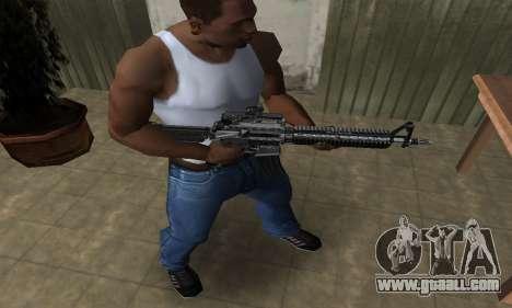 Full Black M4 for GTA San Andreas second screenshot