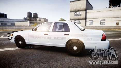 Ford Crown Victoria Bohan Police [ELS] unmarked for GTA 4 left view