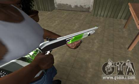 Green Lines Shotgun for GTA San Andreas
