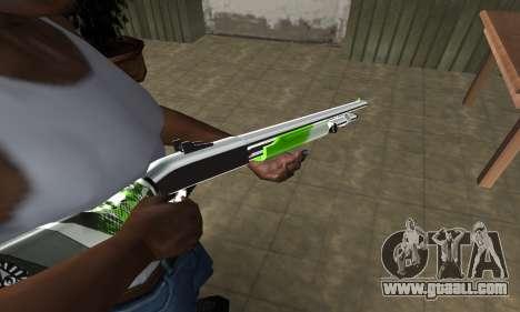 Green Lines Shotgun for GTA San Andreas