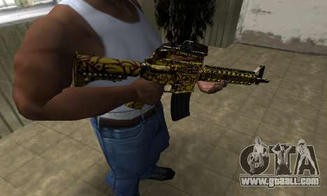 Yellow Jungle M4 for GTA San Andreas second screenshot