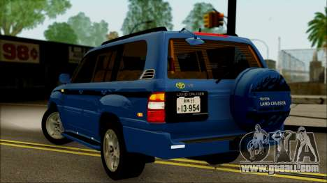 Toyota Land Cruiser 100 UAE Edition for GTA San Andreas left view