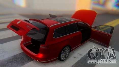 Volkswagen Passat Variant R-Line for GTA San Andreas upper view