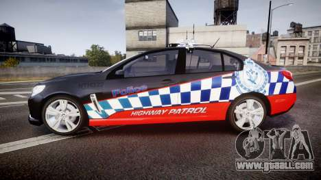 Holden VF Commodore SS Highway Patrol [ELS] for GTA 4 left view