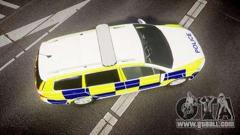 Volkswagen Passat B7 North West Police [ELS] for GTA 4 right view
