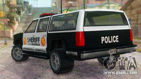 Police 4-door Yosemite for GTA San Andreas left view
