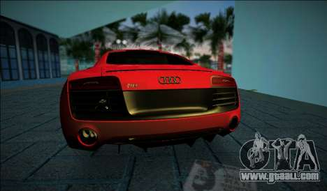 Audi R8 V10 Plus 2014 for GTA Vice City back left view
