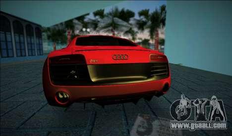 Audi R8 V10 Plus 2014 for GTA Vice City back left view