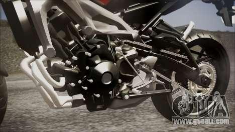 Yamaha MT-09 for GTA San Andreas back view