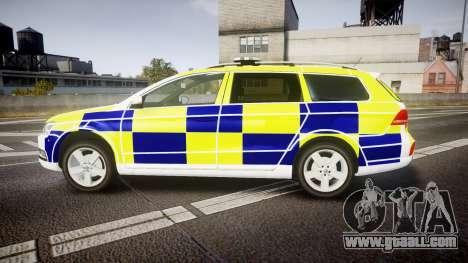 Volkswagen Passat B7 North West Police [ELS] for GTA 4 left view