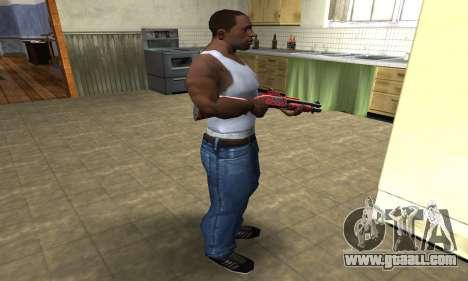 Blood Shotgun for GTA San Andreas third screenshot
