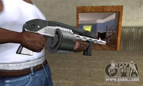 Silver Granate Combat Shotgun for GTA San Andreas