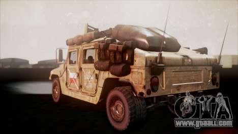 Polish HMMWV for GTA San Andreas left view