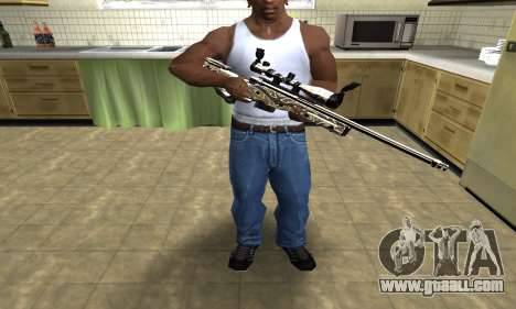 Gold Dragon Sniper Rifle for GTA San Andreas third screenshot