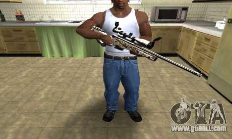 Gold Dragon Sniper Rifle for GTA San Andreas third screenshot