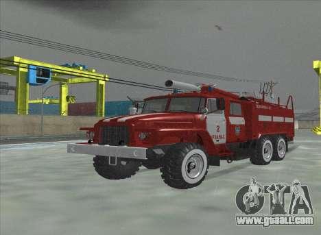 Ural 375 Firefighter for GTA San Andreas