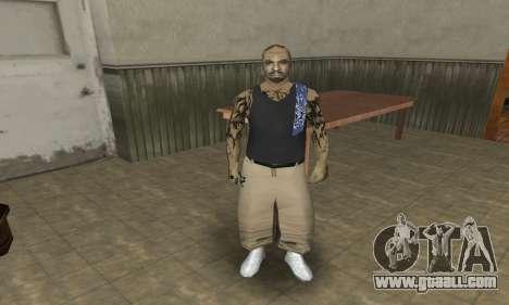 Rifa Skin Third for GTA San Andreas third screenshot