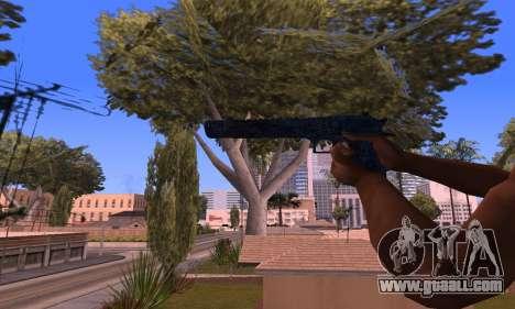Deagle Blue for GTA San Andreas third screenshot