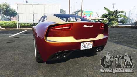Lampadati Furore GT Maserati for GTA 5