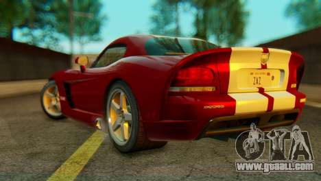 Dodge Viper SRT10 for GTA San Andreas left view